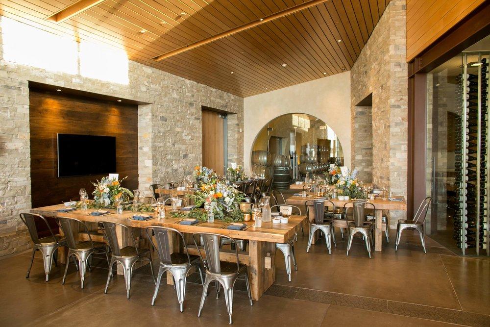 www.santabarbarawedding.com | Presqu'ile Winery | Allyson Magda | Reception Tables