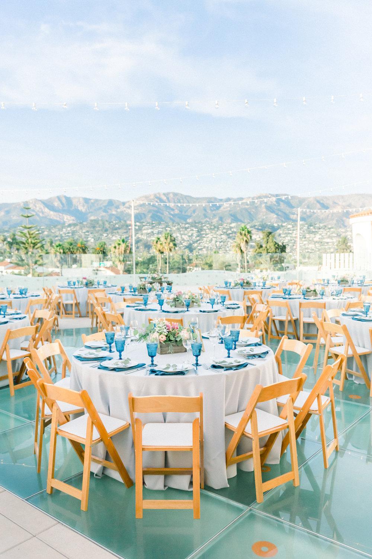 www.santabarbarawedding.com | Our Lady of Mount Carmel | MOXI | Ann Johnson | Islay Events | James & Jess | Reception Tables