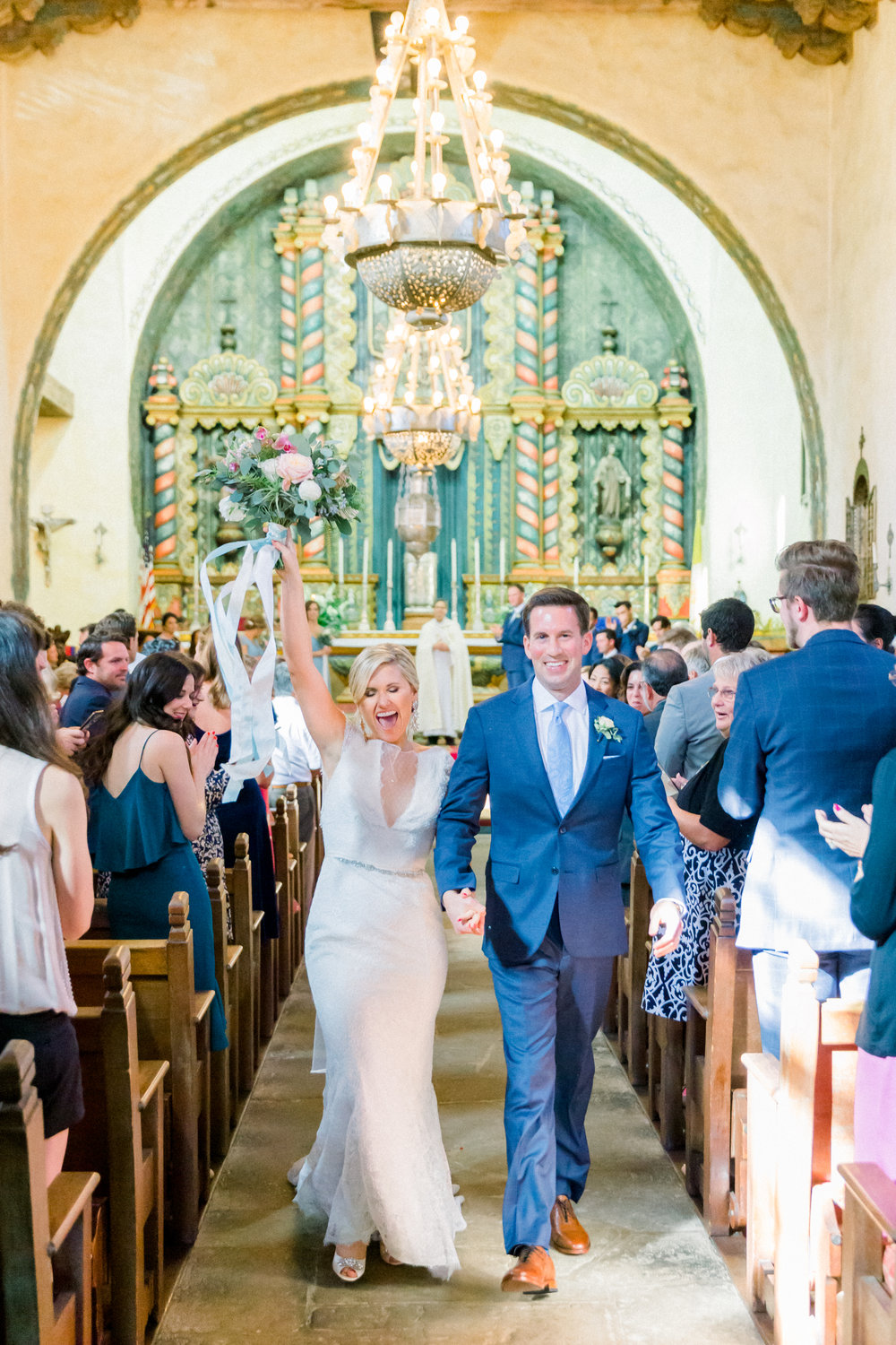 www.santabarbarawedding.com | Our Lady of Mount Carmel | MOXI | Ann Johnson | Islay Events | James & Jess | Ceremony | Bride and Groom