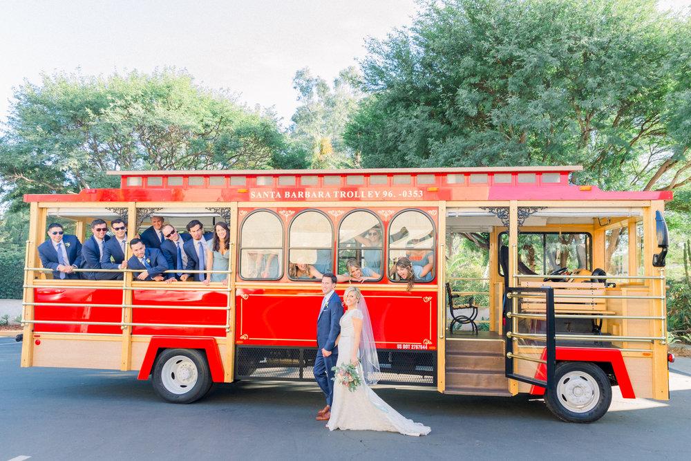 www.santabarbarawedding.com | Our Lady of Mount Carmel | MOXI | Ann Johnson | Islay Events | James & Jess | Trolley