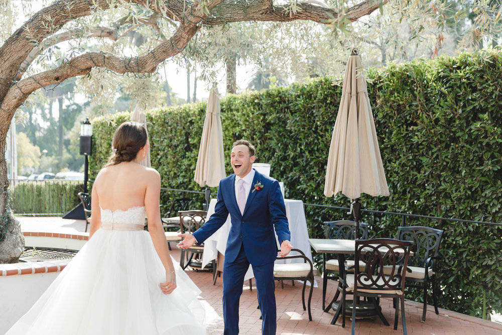 www.santabarbarawedding.com | Waller Weddings | Riviera Mansion | Amy Grace Events | First Look