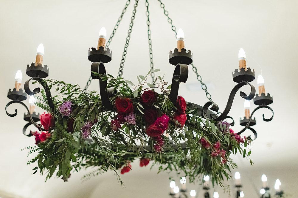 www.santabarbarawedding.com   Waller Weddings   Riviera Mansion   Amy Grace Events   Reception Chandelier