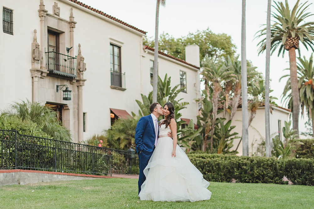 www.santabarbarawedding.com | Waller Weddings | Riviera Mansion | Amy Grace Events | Bride and Groom
