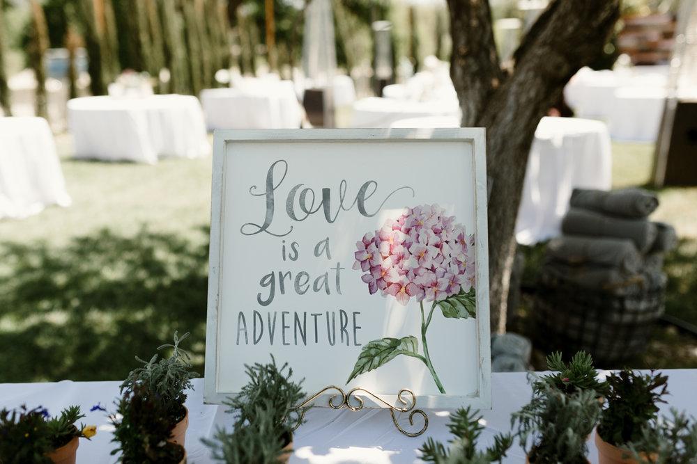 www.santabarbarawedding.com   Grace Maralyn Estate   Diana Lake Photo   Wedding Sign