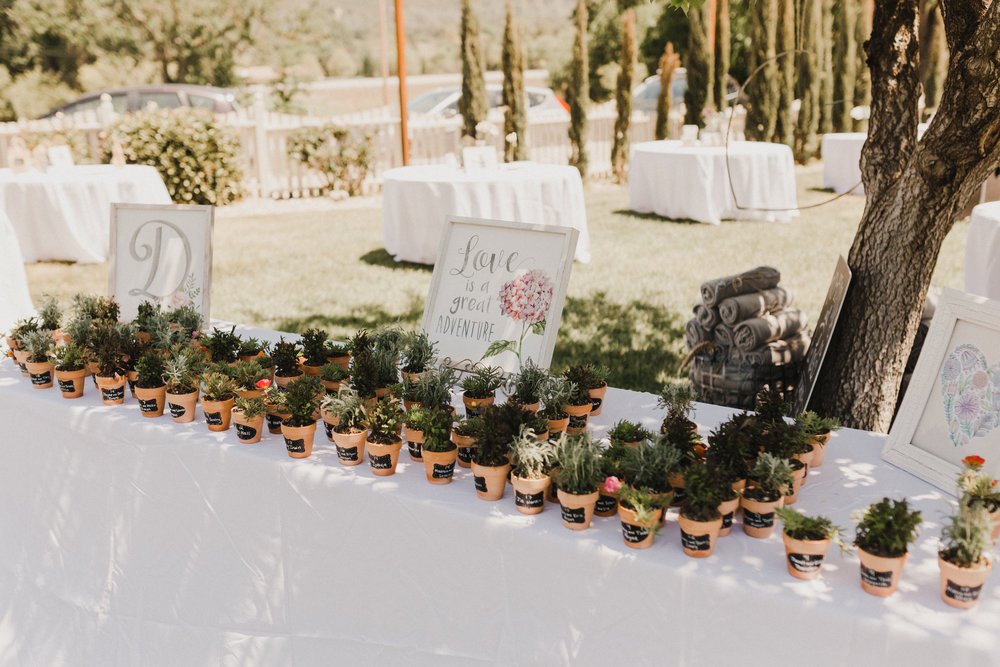 www.santabarbarawedding.com   Grace Maralyn Estate   Diana Lake Photo   Wedding Favor Table