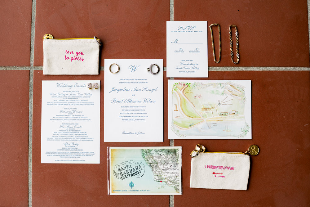 www.santabarbarawedding.com | Rewind Photography | Events by M and M | Santa Barbara Historical Museum | Invitations