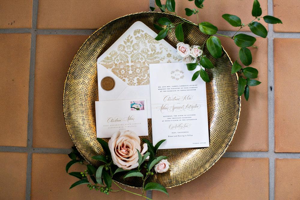 www.santabarbarawedding.com | Laurie Bailey | Ojai Valley Inn | Amber Weir Weddings | Invitations