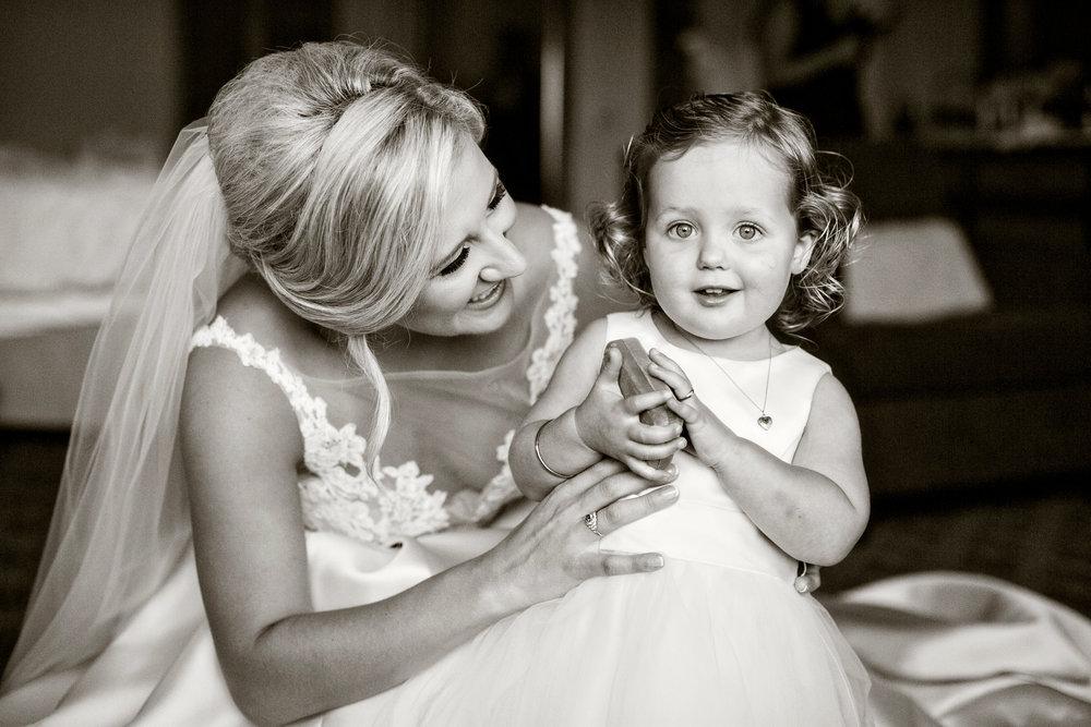 www.santabarbarawedding.com | Laurie Bailey | Ojai Valley Inn | Amber Weir Weddings | Bride and Flower Girl