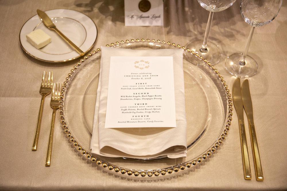 www.santabarbarawedding.com | Laurie Bailey | Ojai Valley Inn | Amber Weir Weddings | Place Setting