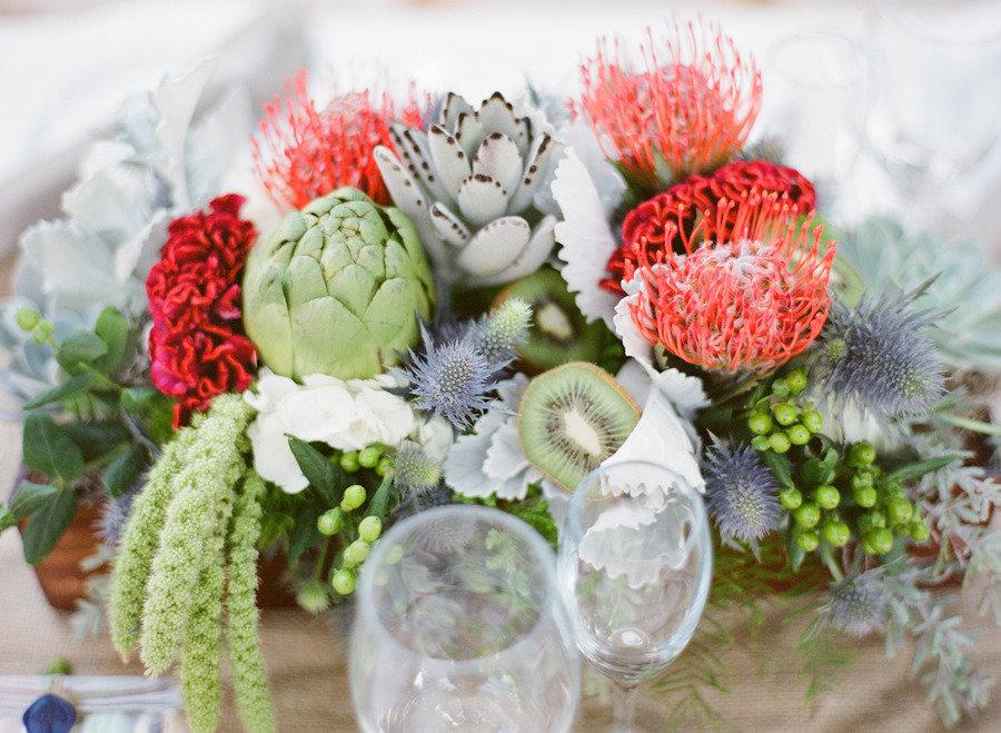 www.santabarbarawedding.com | Firestone Vineyard | Soigne Productions | Michael and Anna Costa | Floral Arrangement