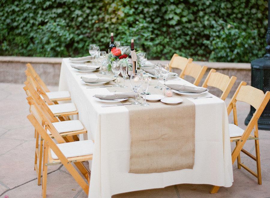www.santabarbarawedding.com | Firestone Vineyard | Soigne Productions | Michael and Anna Costa | Reception Table