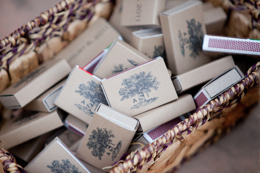 www.santabarbarawedding.com | Firestone Vineyard | Soigne Productions | Michael and Anna Costa | Matchboxes
