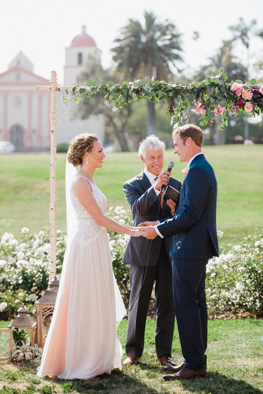 www.santabarbarawedding.com   Grace Kathryn   Mission Rose Garden