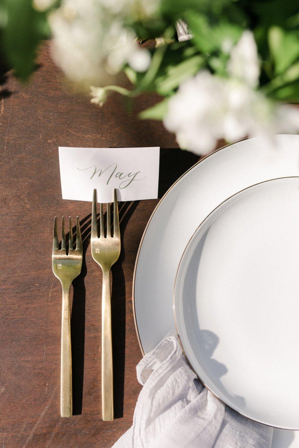 www.santabarbarawedding.com | Anne Delores | Rancho Bella Vista | Wild Heart Events | Place Setting