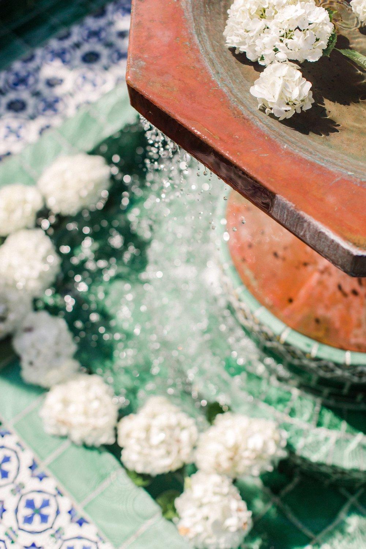 www.santabarbarawedding.com | Anne Delores | Rancho Bella Vista | Wild Heart Events | Fountain