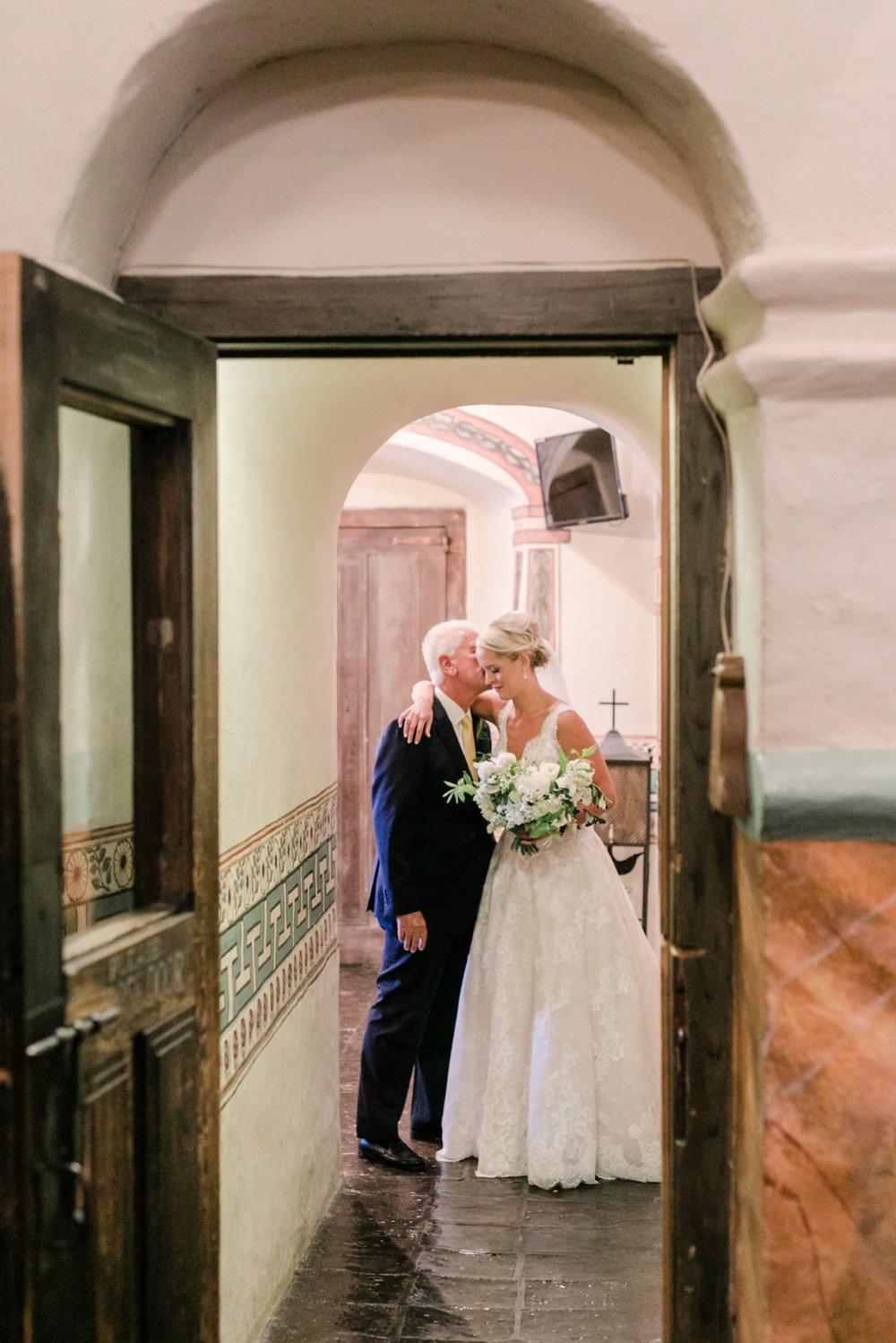 www.santabarbarawedding.com | Anne Delores | Rancho Bella Vista | Wild Heart Events | Bride and Father