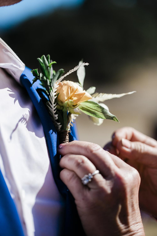 www.santabarbarawedding.com | ByCherry Photography | Gainey Vineyard | Revele Unlimited | Groom's Boutonniere