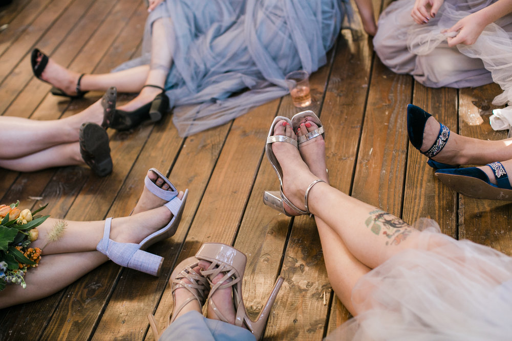 www.santabarbarawedding.com | ByCherry Photography | Gainey Vineyard | Revele Unlimited | Bridesmaids' Shoes