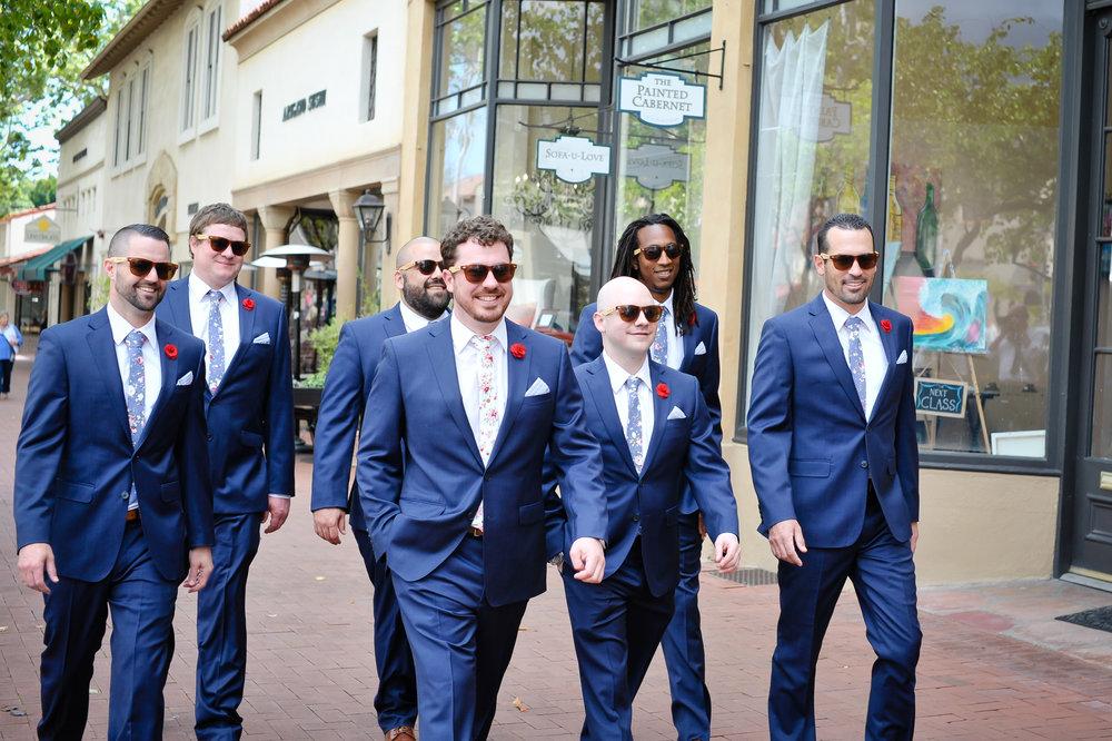 www.santabarbarawedding.com | Alice Keck Park | Santa Barbara Club | Half Full Photography | Groomsmen