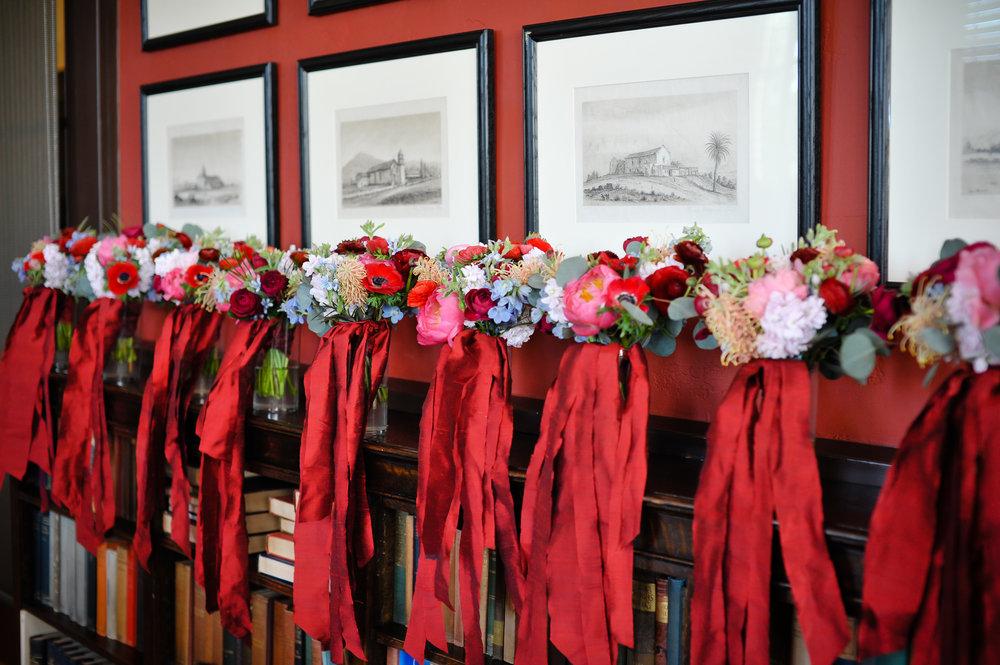www.santabarbarawedding.com | Alice Keck Park | Santa Barbara Club | Half Full Photography | Bridesmaid Bouquets