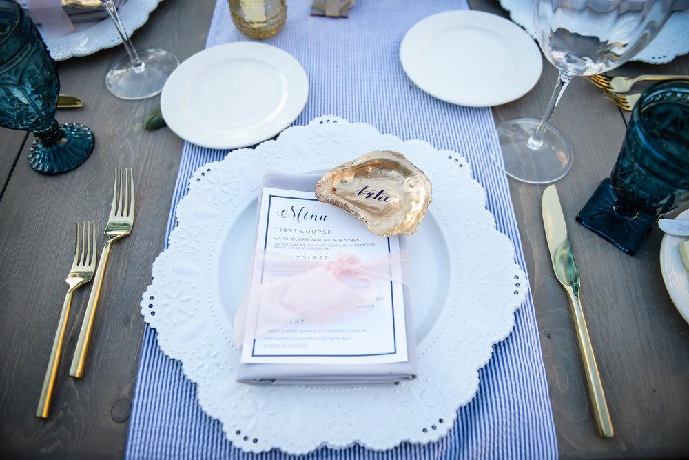 www.santabarbarawedding.com | Alice Keck Park | Santa Barbara Club | Half Full Photography | Place Setting