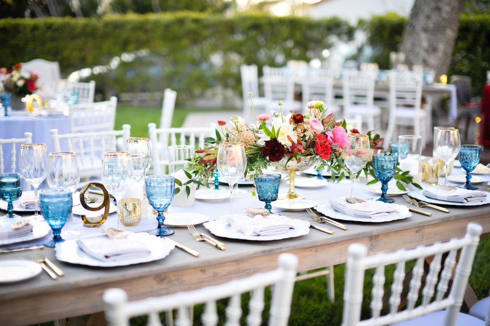 www.santabarbarawedding.com | Alice Keck Park | Santa Barbara Club | Half Full Photography | Reception Table
