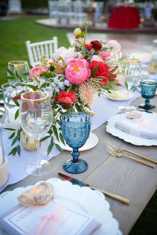 www.santabarbarawedding.com | Alice Keck Park | Santa Barbara Club | Half Full Photography | Reception Table Details