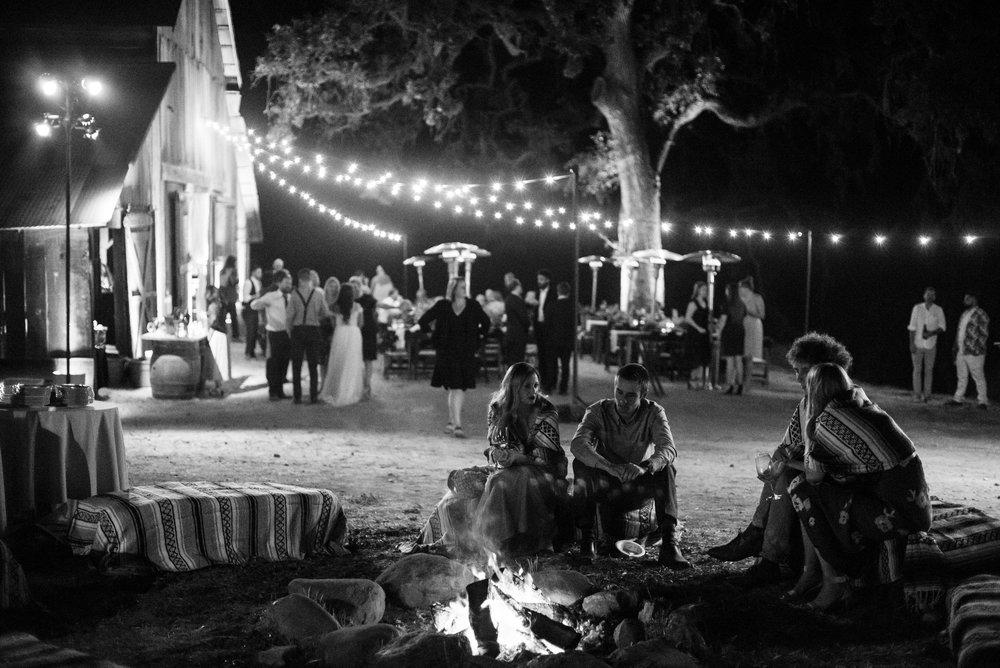 www.santabarbarawedding.com | ByCherry Photography | Gainey Vineyard | Revele Unlimited | Fire Pit