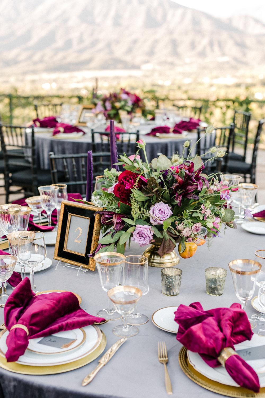 www.santabarbarawedding.com   Anna Delores   Ojai Retreat   Reception Table