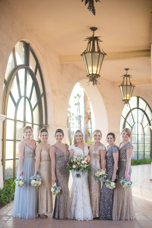 www.santabarbarawedding.com | ByCherry Photo | Hilton Beachfront Resort | Dulce Dia Events | Bridesmaids