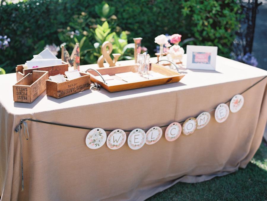 www.santabarbarawedding.com   Soigne Productions   Lane Dittoe   Gift Table