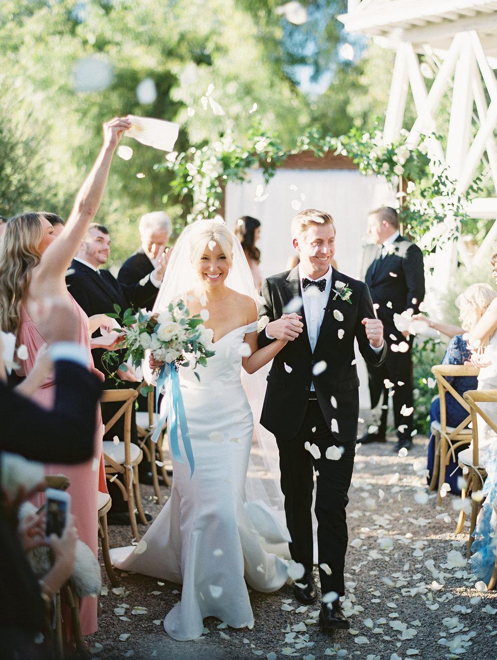 www.santabarbarawedding.com | Soleil Events | Mattei's Tavern | Bride and Groom Walking down aisle