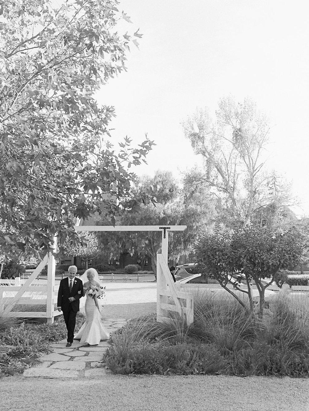 www.santabarbarawedding.com | Soleil Events | Mattei's Tavern | Bride and Father Walking Down Aisle