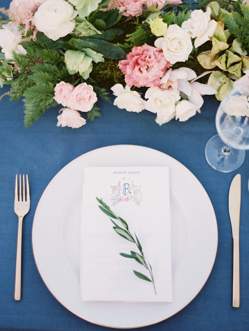 www.santabarbarawedding.com | Soleil Events | Mattei's Tavern | Place Setting