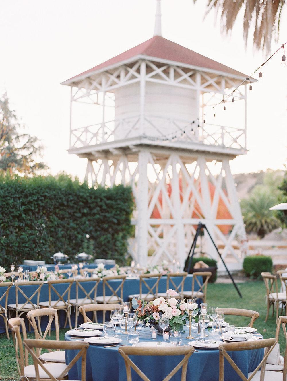 www.santabarbarawedding.com | Soleil Events | Mattei's Tavern | Reception Tables