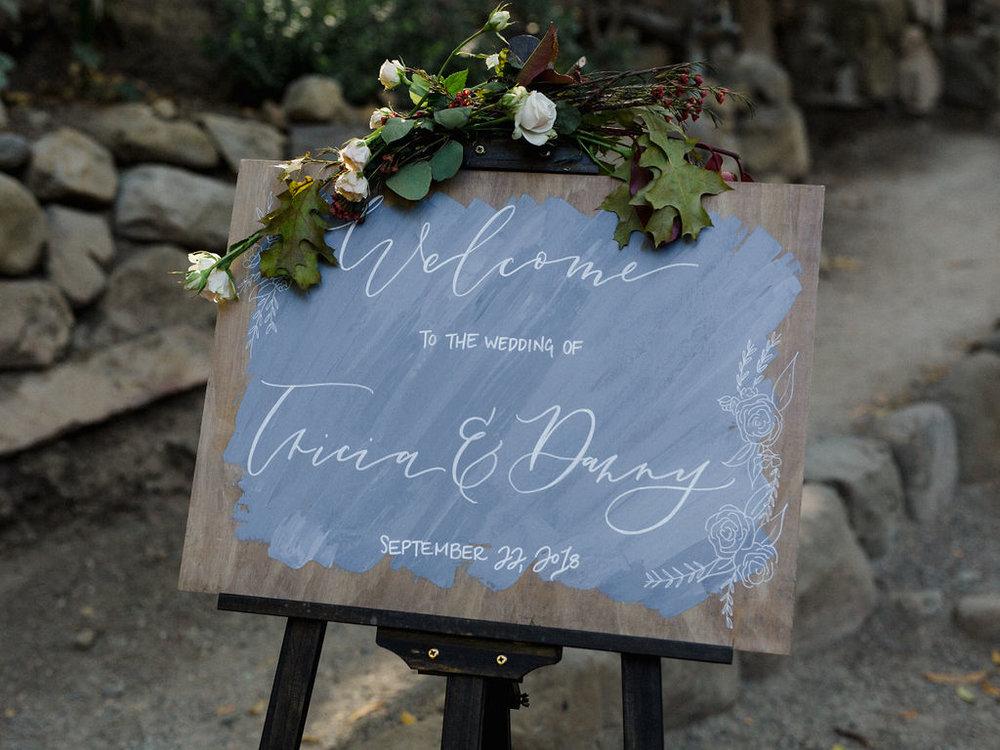 www.santabarbarawedding.com   Cold Spring Tavern   Wunderland & Co.   Braden Young   Wedding Sign