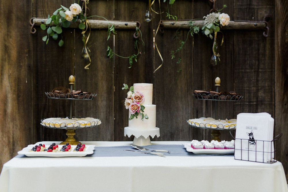 www.santabarbarawedding.com   Cold Spring Tavern   Wunderland & Co.   Braden Young   Wedding Cake and Dessert Table