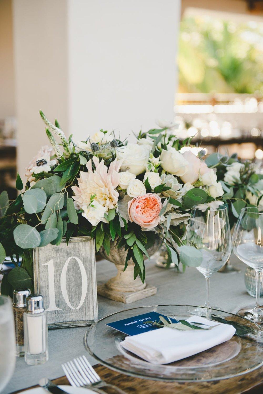 www.santabarbarawedding.com | Bacara Resort & Spa | Alegria By Design | onelove photography | Table Number