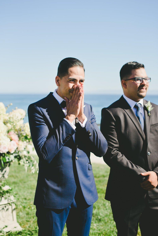 www.santabarbarawedding.com | Bacara Resort & Spa | Alegria By Design | onelove photography | Groom at Ceremony