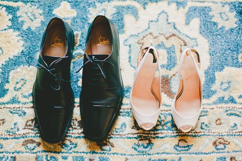 www.santabarbarawedding.com | Bacara Resort & Spa | Alegria By Design | onelove photography | Bride and Groom's Shoes