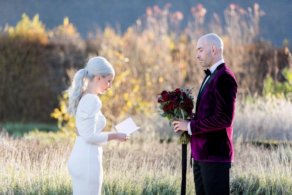 www.santabarbarawedding.com | Kiel Rucker | Santa Barbara Elopement | Kestrel Park | Vows