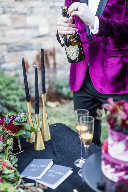 www.santabarbarawedding.com | Kiel Rucker | Santa Barbara Elopement | Kestrel Park | Champagne