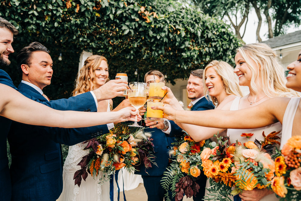 www.santabarbarawedding.com | Brandon Bibbins Photography | The Cottages at Polo Run | Pure Joy Catering | Wedding Party Cheers