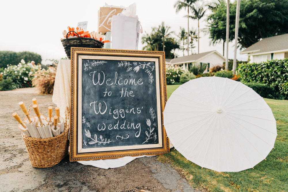 www.santabarbarawedding.com | Brandon Bibbins Photography | The Cottages at Polo Run | Bright Event Rentals | Wedding Welcome Sign