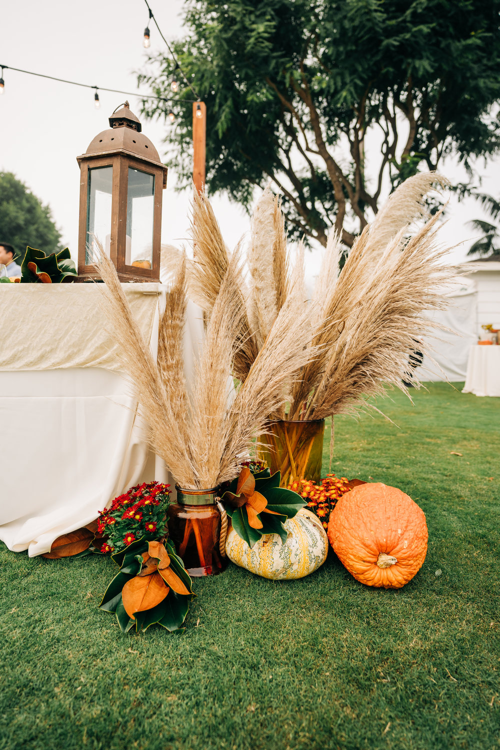 www.santabarbarawedding.com | Brandon Bibbins Photography | The Cottages at Polo Run | Bright Event Rentals | Fall Accents Display