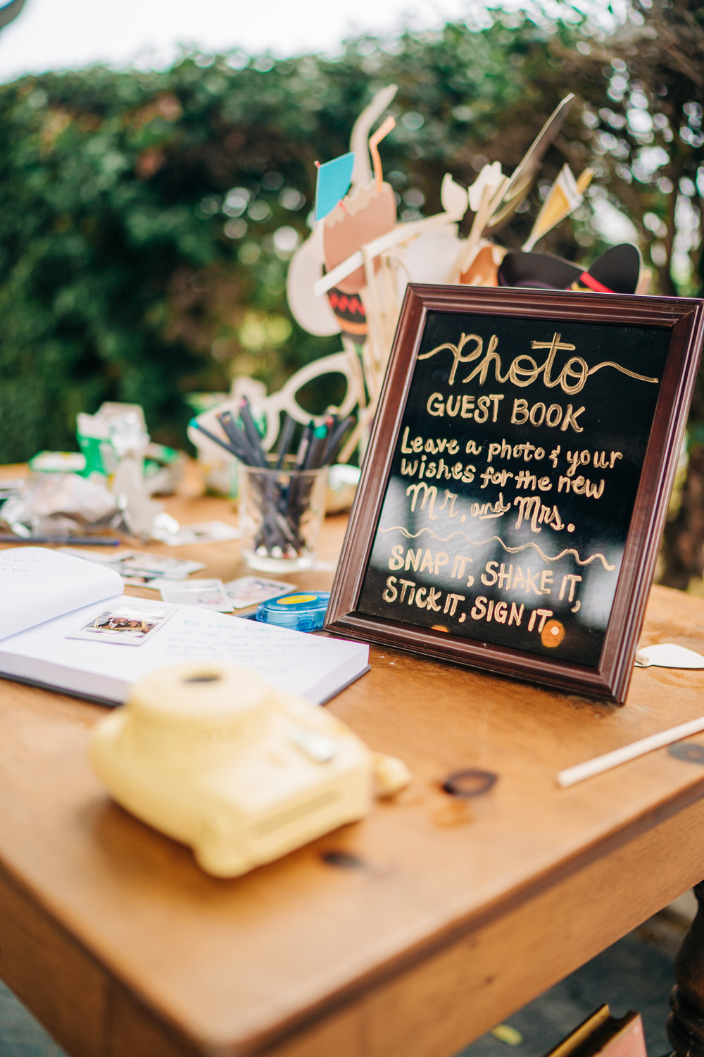 www.santabarbarawedding.com | Brandon Bibbins Photography | The Cottages at Polo Run | Bright Event Rentals | Photo Guest Book