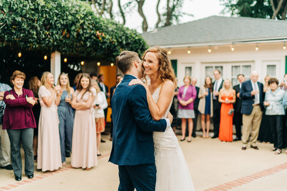 www.santabarbarawedding.com | Brandon Bibbins Photography | The Cottages at Polo Run | Bride and Groom First Dance