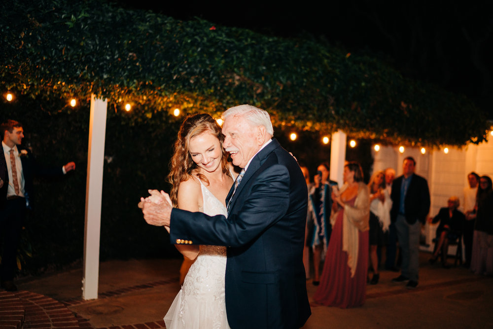 www.santabarbarawedding.com | Brandon Bibbins Photography | The Cottages at Polo Run | Father of the Bride Dance