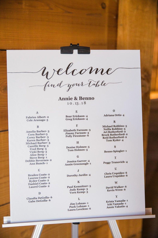 www.santabarbarawedding.com | Venue: Firestone Vineyard | Photographer: Just Kiss Collective | Seating Chart