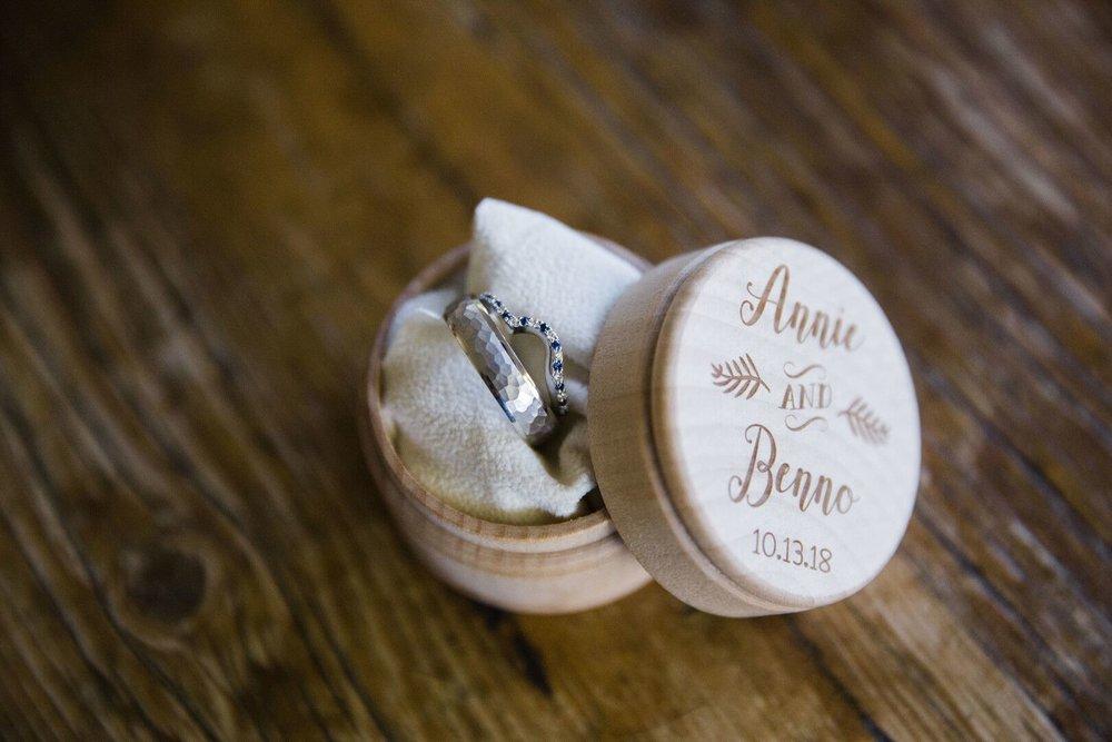 www.santabarbarawedding.com | Venue: Firestone Vineyard | Photographer: Just Kiss Collective |  Weddings Rings in Ring Box